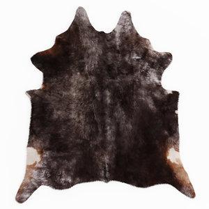 wool cowhide leather rug model