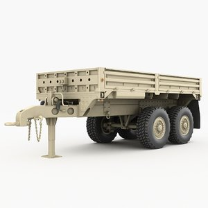 3D m1095 trailer vehicles model