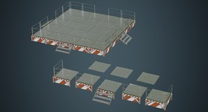 3D stage platform 1a