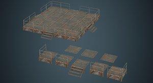 3D model stage platform 1b