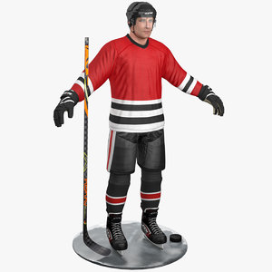 3D pbr hockey player model