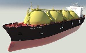 lng carrier ship vessel 3D