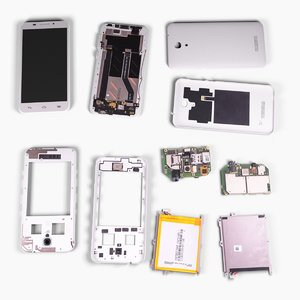 disassembled mobile phone 3D model