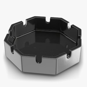 ashtray object 3D
