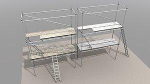 3D building scaffolding