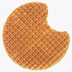 caramel waffle 01 bitten model