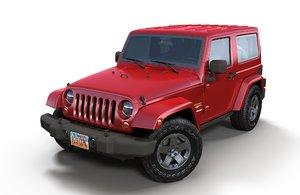 jeep wrangler 2010 3D model