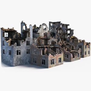 pack destroyed building model