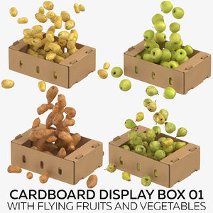 cardboard display box 01 3D model