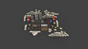3D assets maps