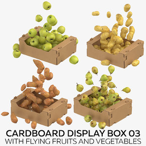3D model cardboard display box 03