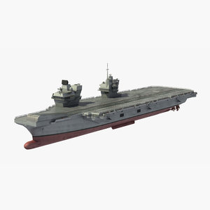 3D hms prince wales aircraft carrier model
