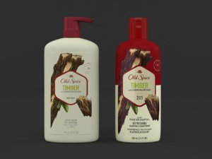 3D model old spice body wash