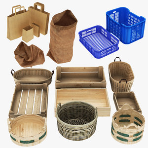 3D crate basket bag