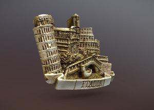 fridge magnet 3D model