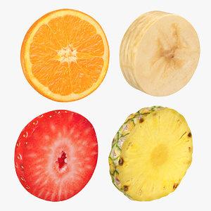 3D fruit slice 2 model