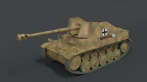 3D model sdkfz 131 marder ii