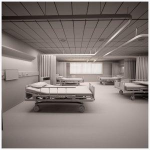 hospital ward ut 3D model