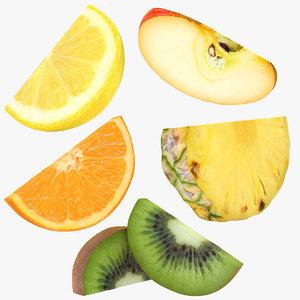 half fruit slice 3D model