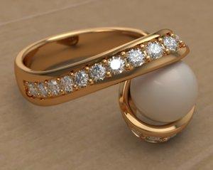 ring pearl 3D model
