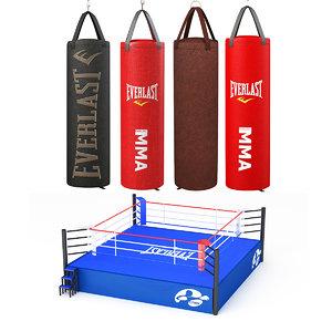 boxing bag punch 3D model