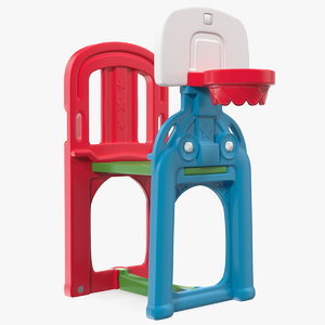 kids plastic basketball hoop 3D model