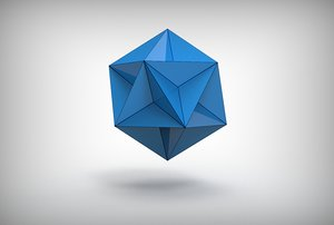 great dodecahedron 3D model