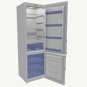 3D low-poly refrigerator