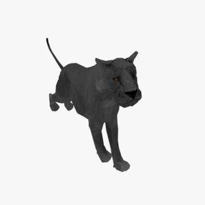 3D black panther