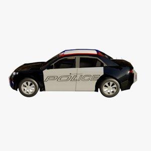 3D police car model