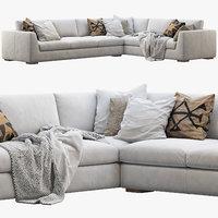 Modena Taper Arm L-Sectional sofa