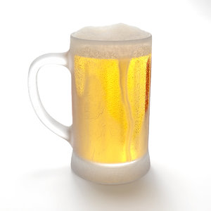 3D frozen mug beer