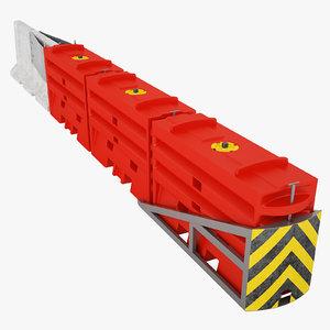 traffix sled barrier 3D model