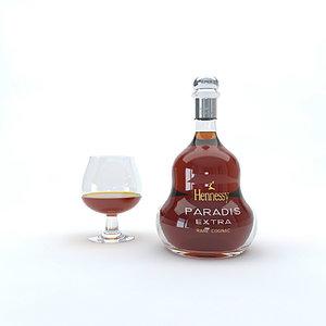 cognac bottle model