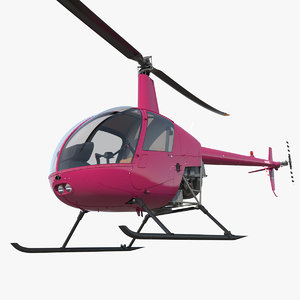 3D light utility helicopter rigged