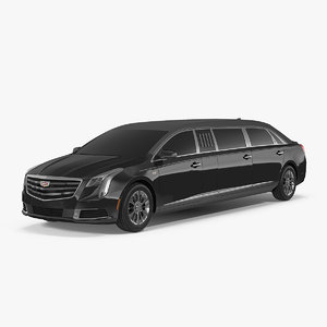 3D model limousine cadillac xts 70