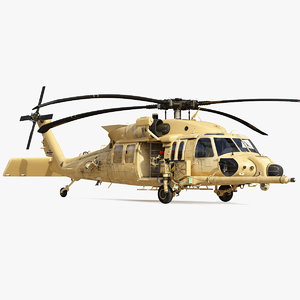 sikorsky hh60 pave hawk helicopter 3D model