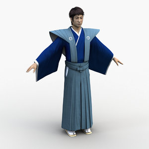 japanese samurai 0004 3D model