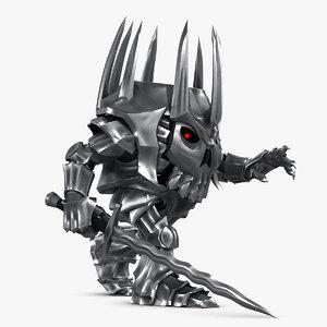 evil knight rig 3D model