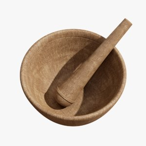 3D model mortar pestle