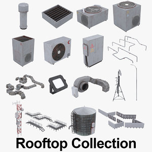 3D rooftop colletion roof model