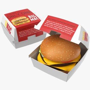 real burger 3D model