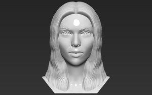 3D scarlett johansson bust printing