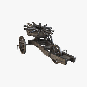3D medieval cannons