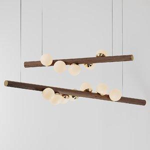 3D ceiling hollis morris pendant lamp model