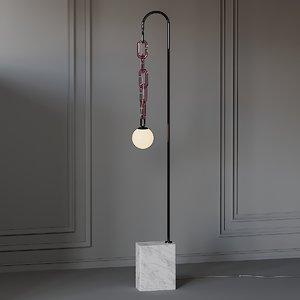 3D model floor lamp trueing cerine