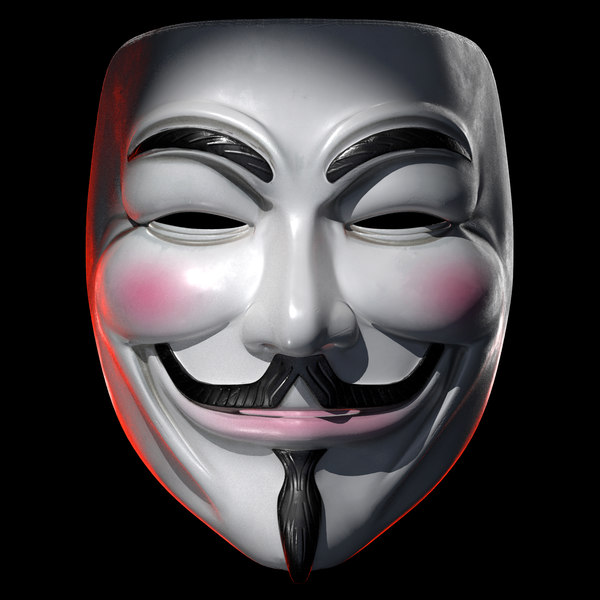 V vendetta mask 3D model - TurboSquid 1553631