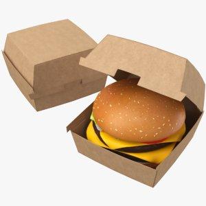 3D real burger model