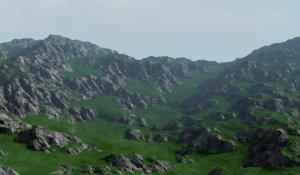 3D model rock landscape