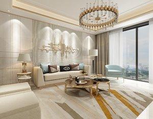 3D model luxury room interior